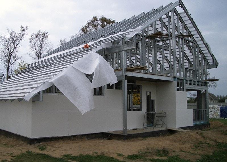 будинок з металлокаркасу