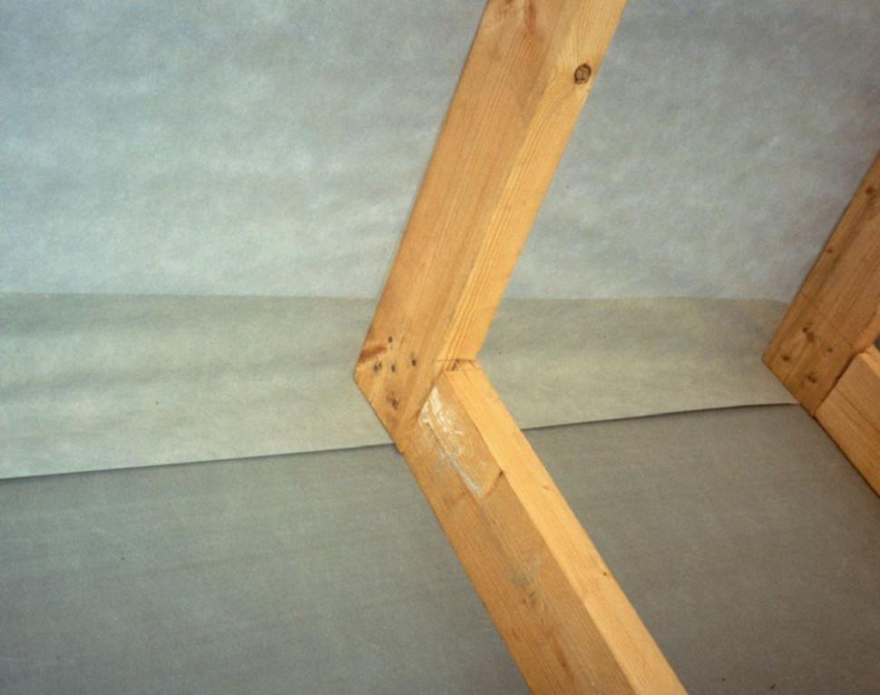 Правильний монтаж супердифузійної мембрани на дах - крок 3