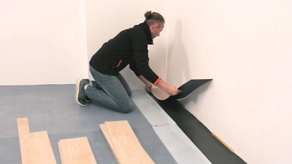 Як укладати вінілову підлогу, крок 3