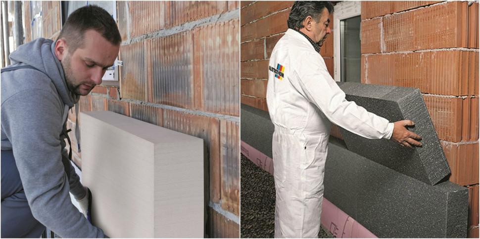 Полістирольні плити EPS, що використовуються для утеплення стін