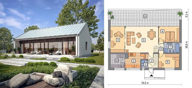 Прозорий - проєкт будинку площею 92,0 м 2